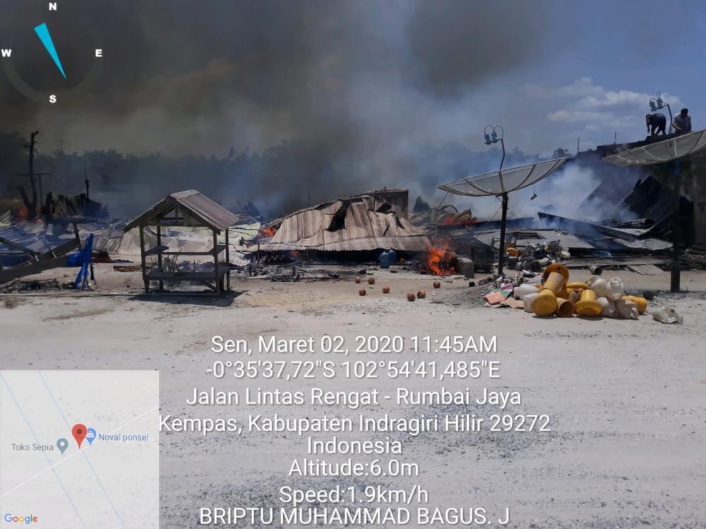 """8 Unit Rumah Warga di Kecamatan Kempas Hangus Terbakar saat """"Siang Bolong"""""""