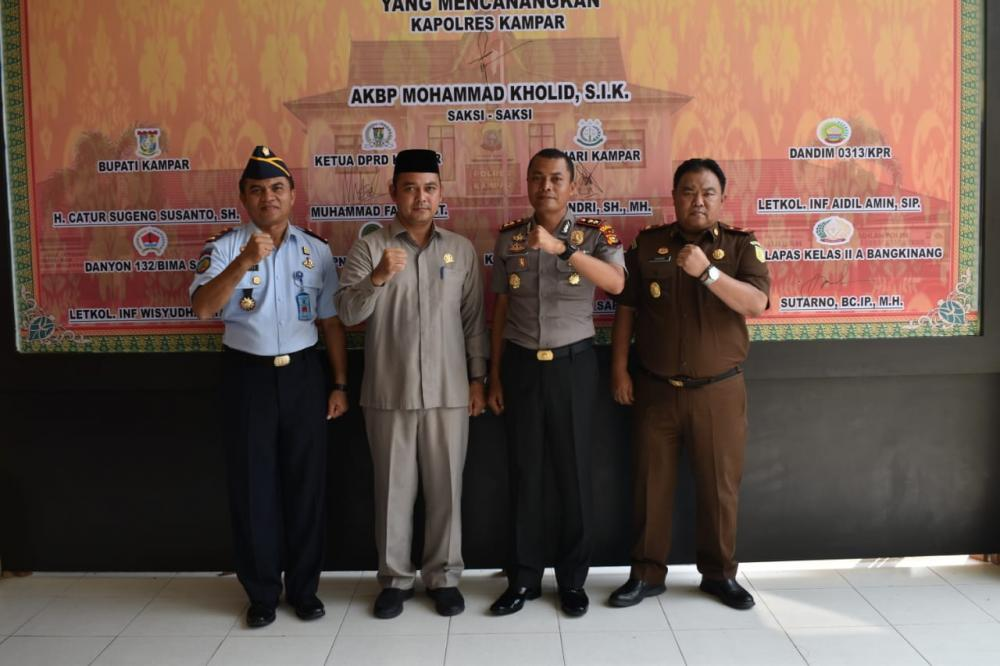 Ketua DPRD Kampar Apresiasi Pencanangan Pembangunan Zona Integritas oleh Kapolres Kampar