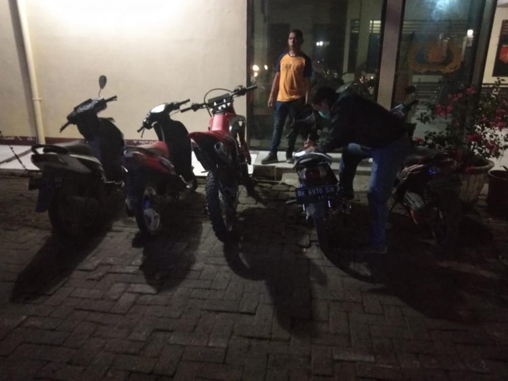 Polsek Tanjung Morawa dan Polresta Deli Serdang Amankan 6 Unit Sepeda Motor