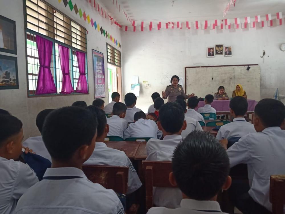 Sat Binmas Polresta Deli Serdang Berika Penyuluhan Bahaya Narkoba