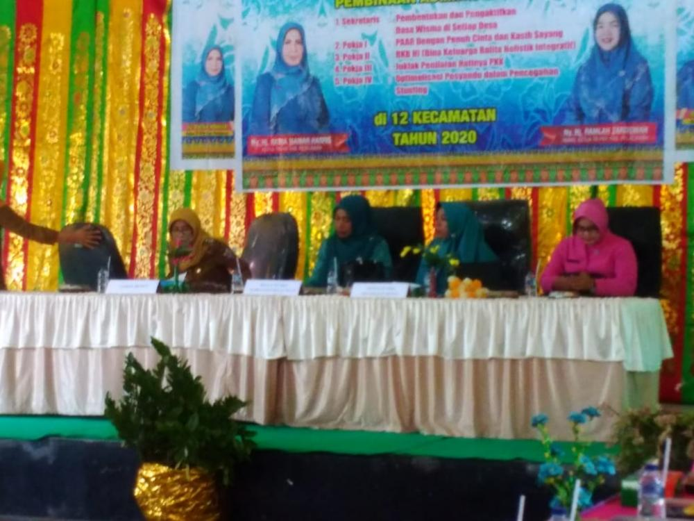 TP PKK Kabupaten Pelalawan  Buka Kegiatan Pembinaan Administrasi PKK Tingkat Kecamatan Bunut Tahun 2020