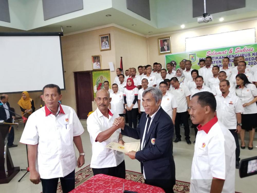 Aspul A Lubis Resmi Pimpin KONI Kabupaten Serdang Bedagai