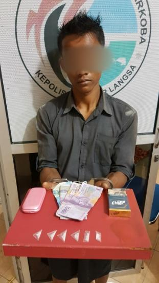 Seorang Pemuda pengecer Sabu diamankan Polisi