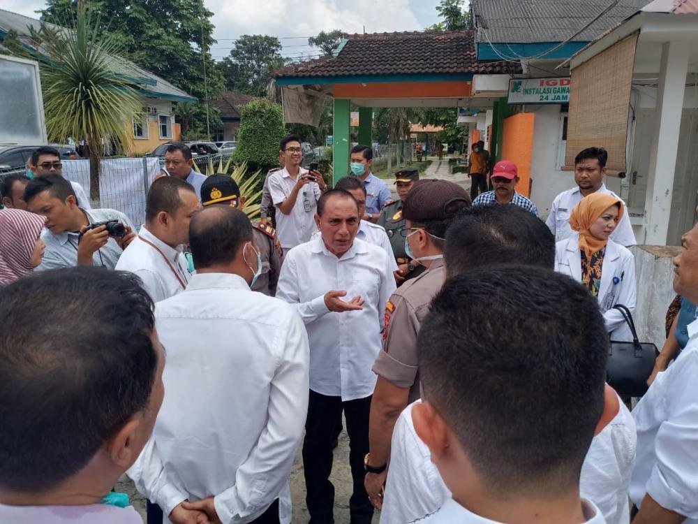 Gubernur Sumatera Utara Cek Kesiapan Rumah Sakit Penanggulan Pasien Virus Corona