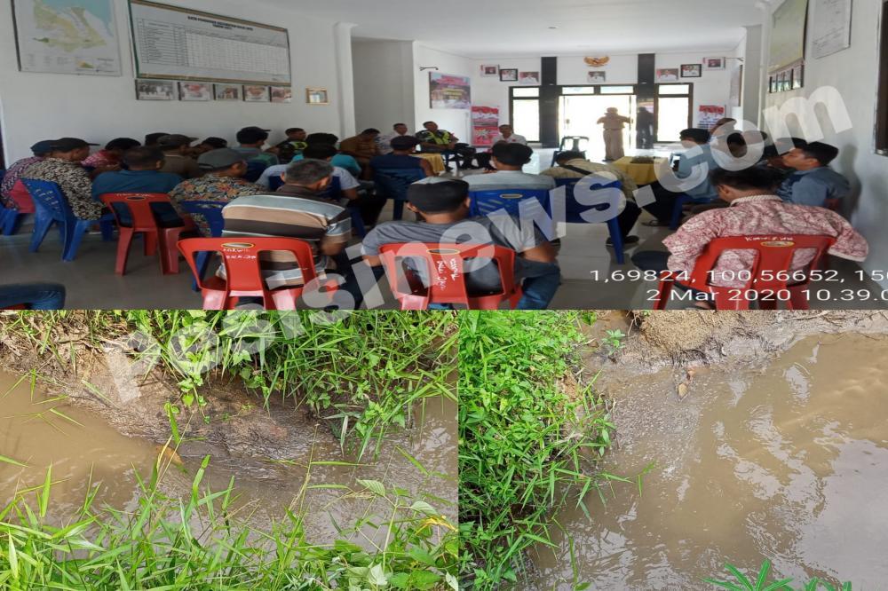 Diduga Karena Limbah  PKS PT Tian Tujuhpuluh Utama, Warga Geruduk Kantor Camat Balai Jaya