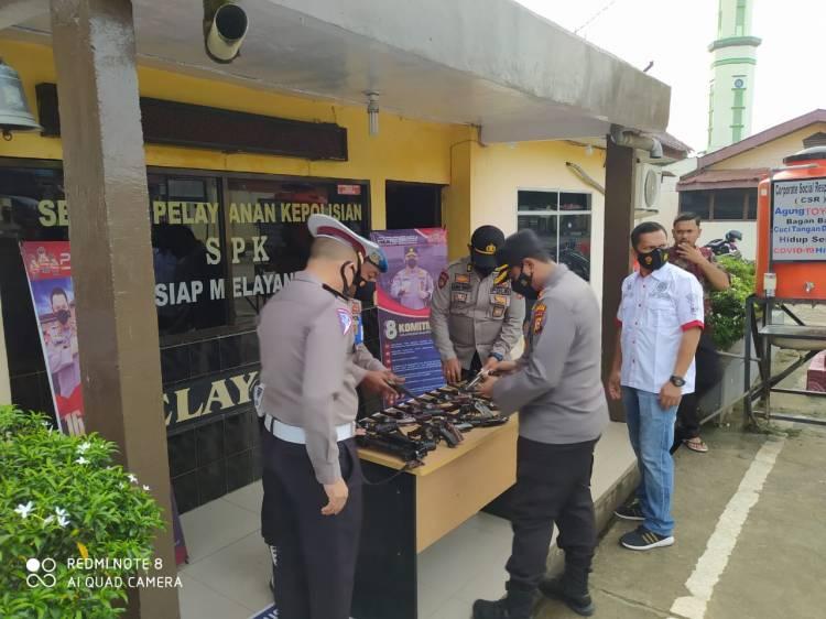 Polsek Bagan Sinembah Lakukan Pengecekan Senpi Dinas Personel