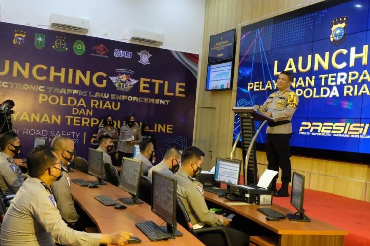 Peluncuran E-TLE, Kapolda Riau Resmikan Pelayanan Terpadu Polda Riau