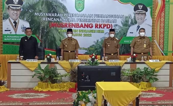 Bupati HM Wardan Buka Musrenbang RKPD Tahun 2022 Secara Virtual