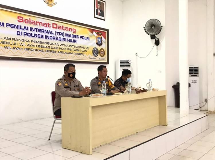 TPI Mabes Polri Laksanakan Penilaian Wilayah Bebas Korupsi (WBK) di Polres Inhil