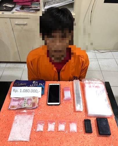 Satu Terduga Pelaku Tindak Pidana Narkotika Berhasil Diamankan Satres Narkoba Polres Inhil
