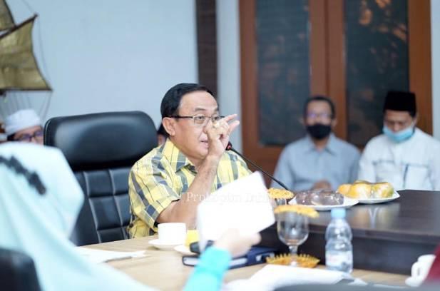 Bupati Inhil HM Wardan Pimpin Rapat Persiapan Penilaian Anugerah Parahita Ekapraya (APE)