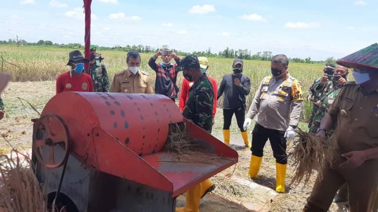 Danrem 031/WB Dampingi Gubri Resmikan Gilingan Padi Bumdes di Rohil