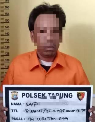Diduga Lakukan KDRT Terhadap Istri, Pria ini Dilaporkan dan Diamankan Polsek Tapung