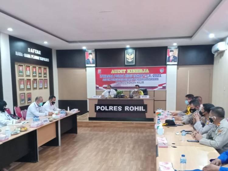 Itswasda Polda Riau Audit Kinerja Tahap l Polres Rokan Hilir