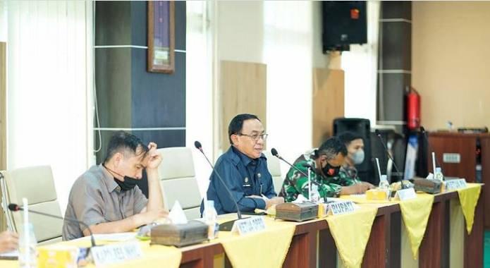 HM Wardan Pimpin Rapat Evaluasi dan Tindak Lanjut Pemebelajaran Tatap Muka Terbatas Tahap II Tahun Ajaran 2020/2021