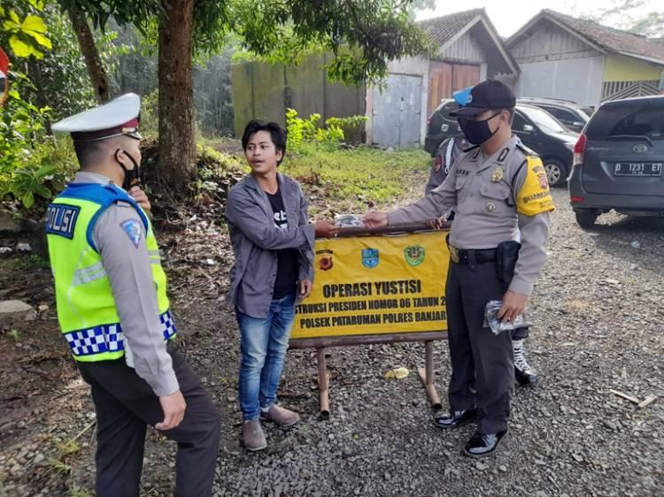 Polsek Pataruman Polres Banjar Gelar Operasi Yustisi Agar Warga Patuhi Prokes Covid-19