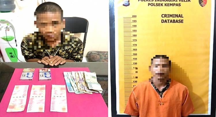 Pemilik Warung di Inhil Bekuk Pengedar Uang Palsu Hasil Fotocopy yang Belanja di Warungnya