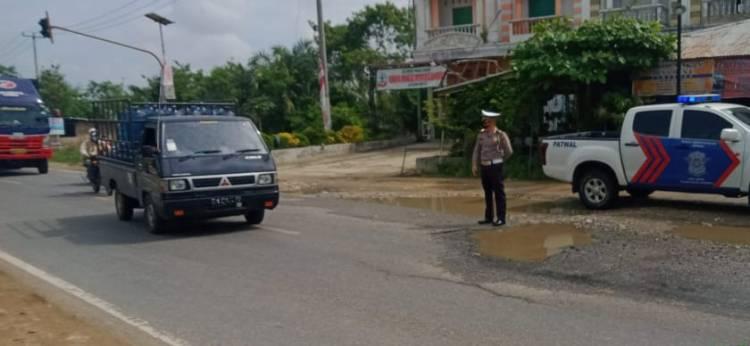 Peduli Kamseltibcarlantas, Unit Lantas Polsek Bagan Sinembah Rutin Patroli