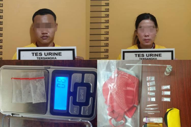 Sedang Rakit Alat Hisap Sabu, Sepasang Kekasih Diringkus Polisi dan Amankan 0,8 Sabu-sabu