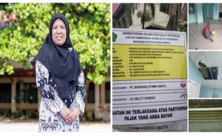 """PT Barokah Utama Karya """"Offside"""" Labor Olympiade Sain Terpadu Masih Kerja, Kepsek MAN 2 Pekanbaru Norerlinda Bungkam"""