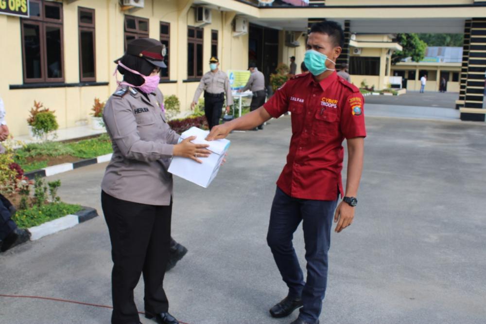 Polres Sergai Terus Galang Dana Untuk Bantu Masyarakat Terdampak Covid-19