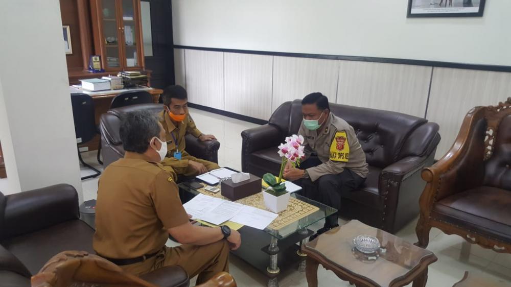 Wakapolres Banjar Hadiri Rapat Koordinasi Penanggulangan Covid-19