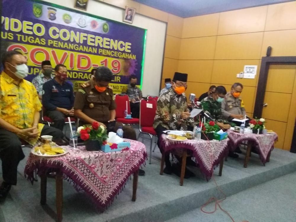 Bupati Inhil Resmikan Pasar Kecamatan Secara Virtual