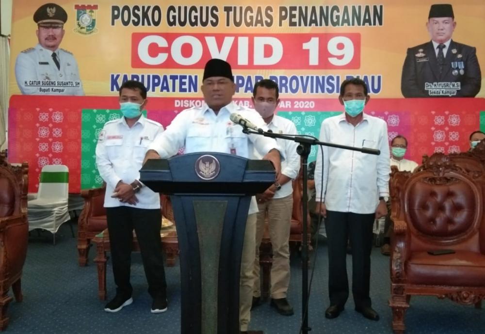 Update Covid-19 Kabupaten Kampar saat ini Jum'at 17 April 2020.