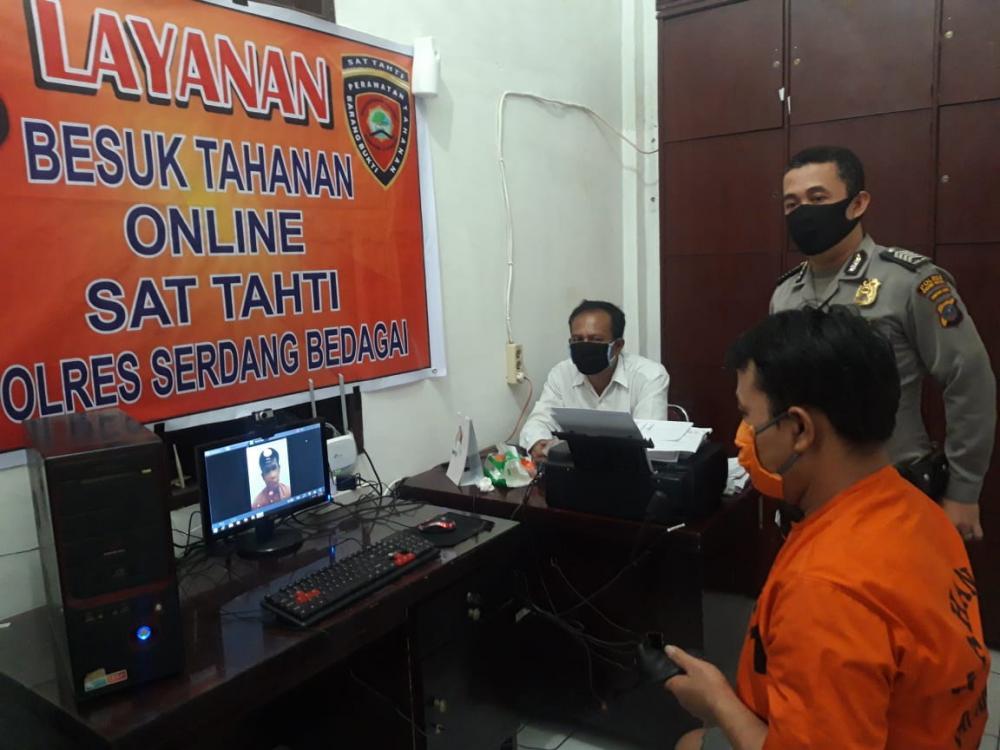 Polres Sergai  Buka Layanan Besuk Tahanan Secara Online