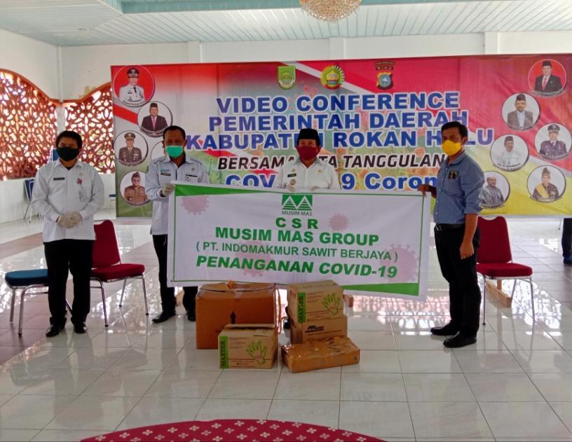 Bupati H Sukiman Apresiasi PT ISG Peduli pencegahan Covid 19,Salurkan CSR ke Pemkab Rohul