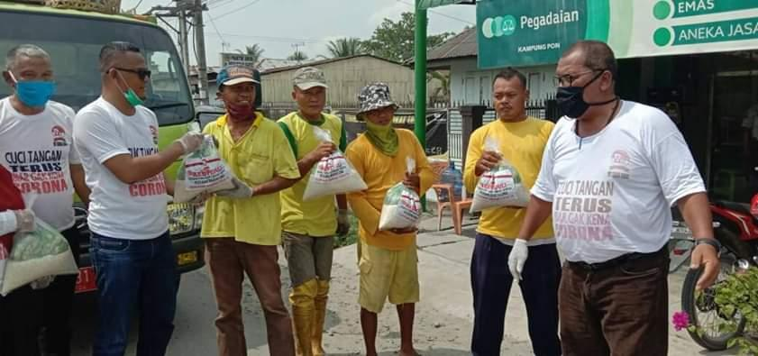 DPC PBL Sergai Salurkan 1000 Paket Beras Dan Mie Instan