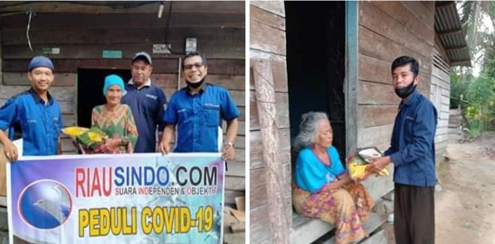 Management Riausindo  Bagi 150 Paket Sembako Untuk keluarga Miskin