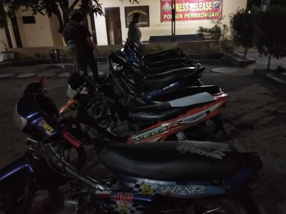 Polsek Perbaungan Amankan 6 Sepeda Motor