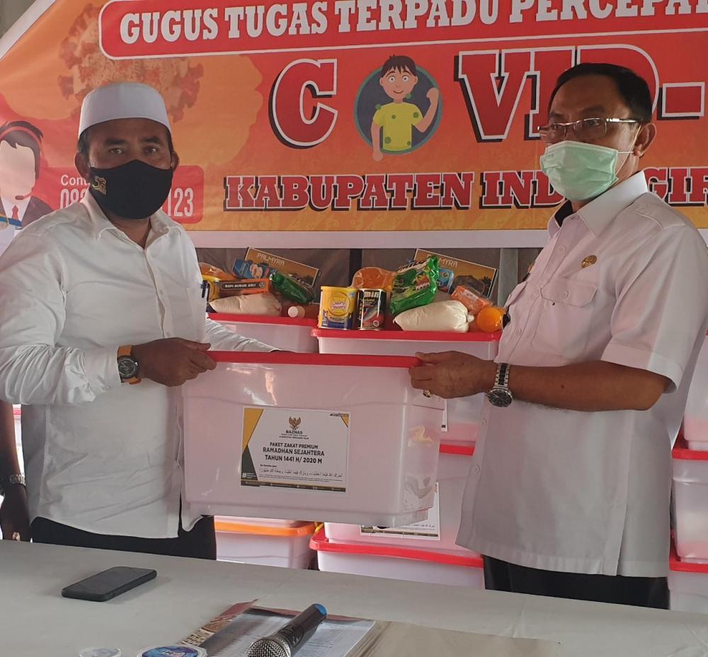 Gugus Tugas Covid-19 Inhil Terima Bantuan 2500 Paket Sembako