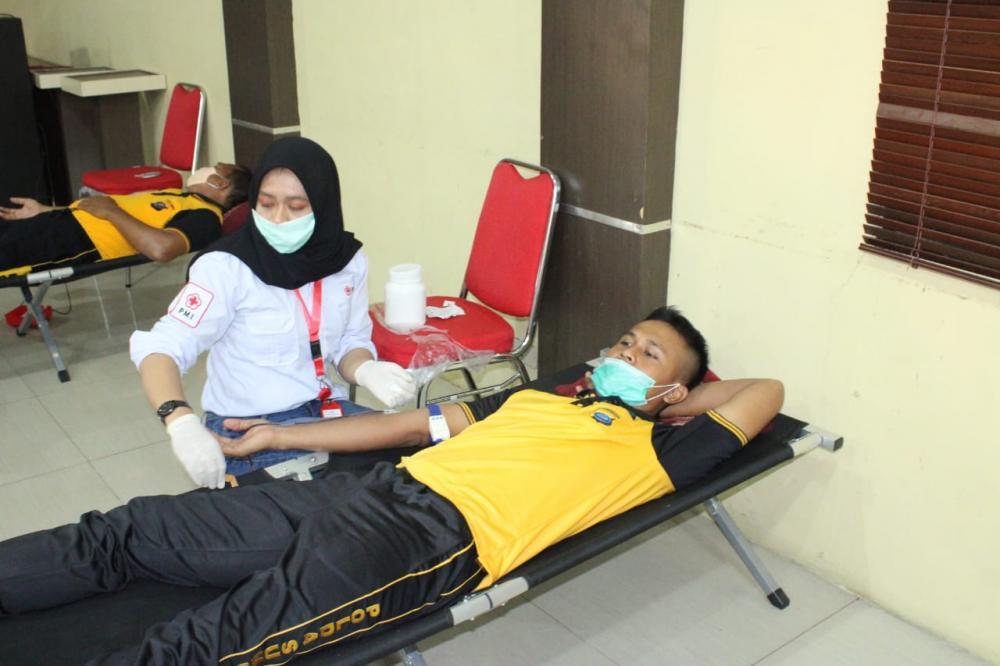 Kapolres Sergai dan jajaran Gelar Donor Darah
