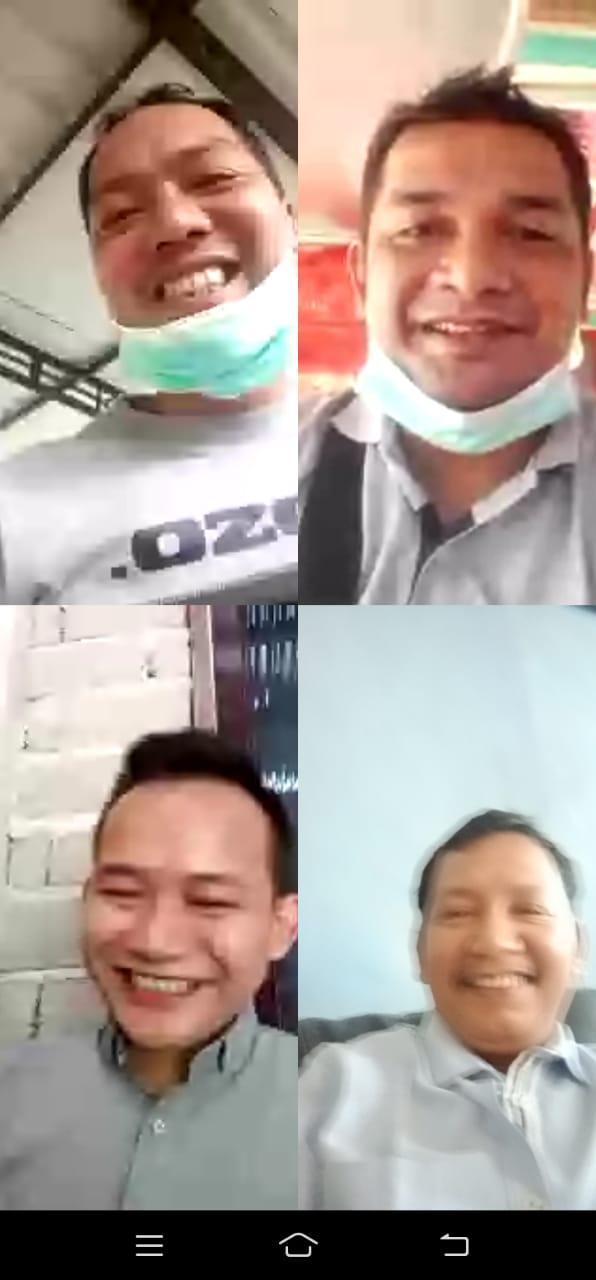 Waspada Covid-19, Ketua PW IWO Riau Berkabar ke Ketua PD Kabupaten Se-Riau Melalui VC Group