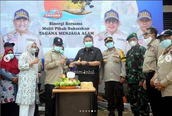 Bupati Inhil Yang Di Wakili Sekda Hadiri Syukuran HUT Tagana ke - 17 th. 2021 di Kabupaten Indragiri Hilir