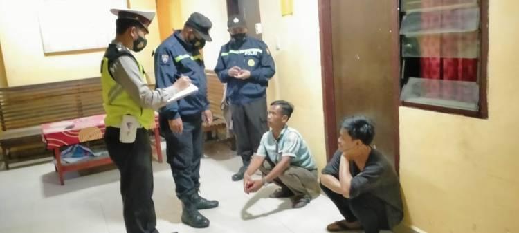 Gelar Patroli, Polsek Bagan Sinembah Amankan 2 Orang Pria Dini Hari Tadi