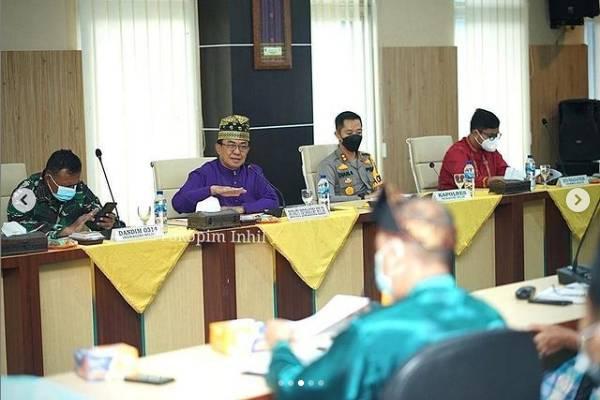 Rapat Koordinasi Pejabat Pemerintah Daerah Kabupaten Indragiri Hilir Dalam Rangka Kesiapan Menghadapi Bulan Suci Ramadhan 1442 H/2021 M