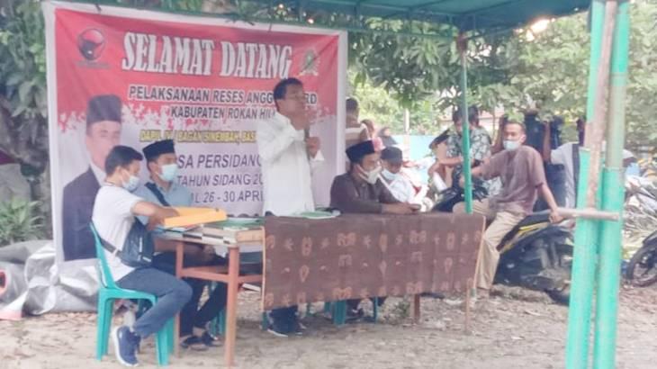 Reses di Bagan Sinembah, Ketua DPRD Rohil Siap Perjuangkan Aspirasi Masyarakat