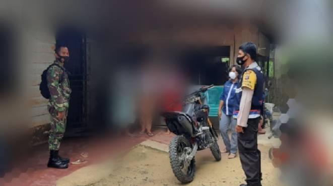 Polsek Bagan Sinembah Kunjungi Perkembangan Pasien Positif Covid-19, 8 Orang Sudah Negatif