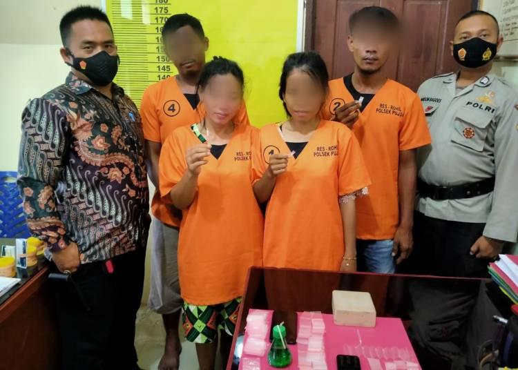 Polisi Ringkus 2 Pria dan 2 Wanita Sedang Pesta Narkoba di Rumah Layak Huni
