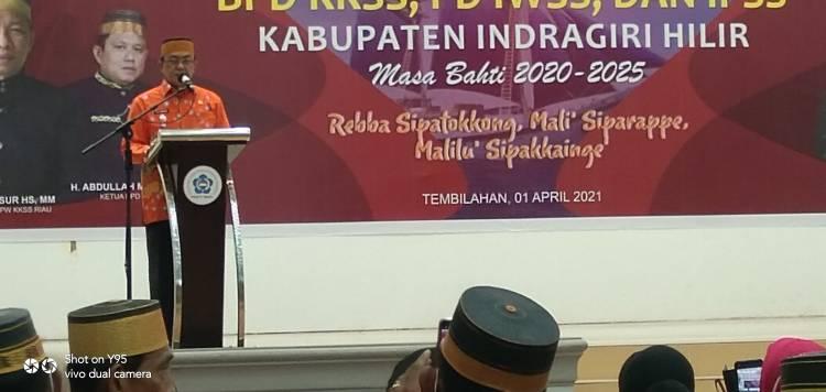 Bupati HM.Wardan dan Wakil Bupati H.Syamsuddin Uti Hadiri Pengukuhan BPD KKSS Inhil Priode 2020-2025.