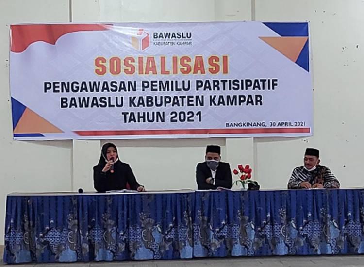 Bawaslu Kabupaten Kampar Sosialisasikan Pengawasan Pemilu Partisipatif
