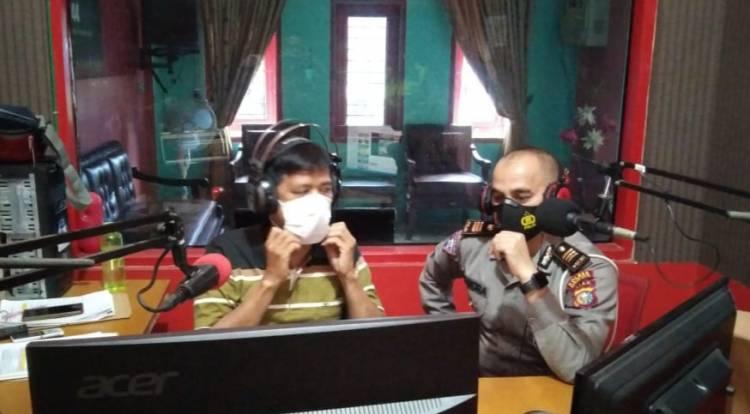 Kanit Lantas Polsek Bagan Sinembah Sosialisasikan Ops Keselamatan Lancang Kuning Via Radio