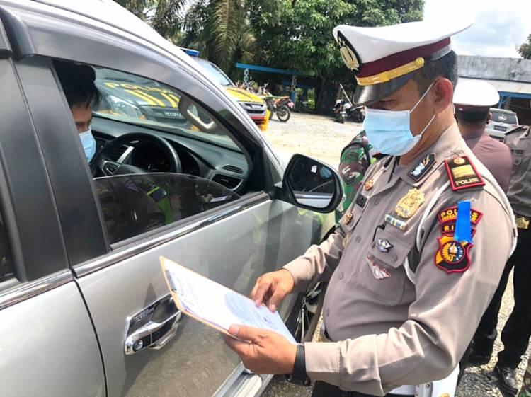 Kendaraan yang Masuk Wilayah Inhil tidak Miliki Kelengkapan Perjalanan Diperintahkan Putar Balik