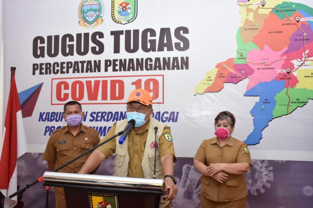1 Orang PDP Meninggal Positif Covid-19, Kabupaten Sergai Zona Kuning