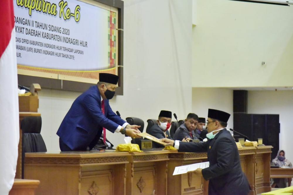 Wabup H.Syamsuddin Uti Bacakan Laporan Keterangan LKPJ TH 2019