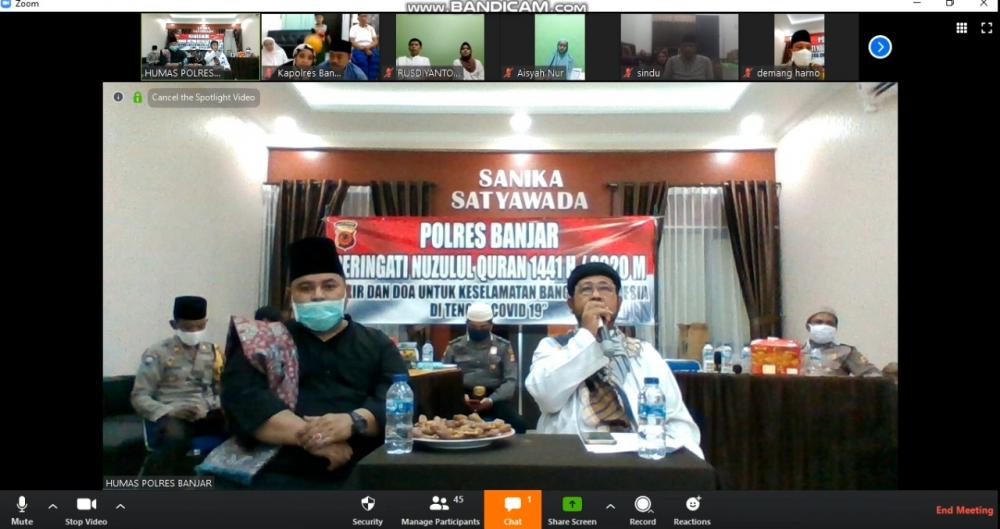 memperingati Nuzulul Quran Polres Banjar Tausiah Secara Online