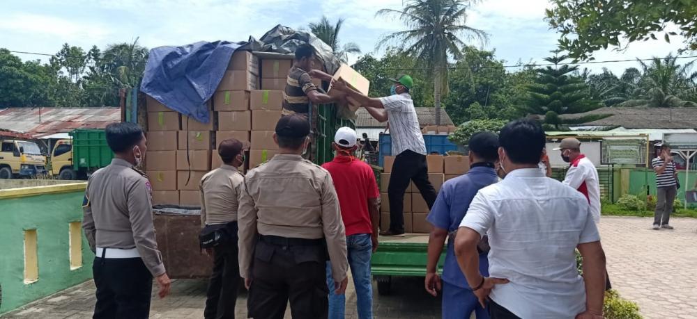 Polres Sergai Kawal Pendistribusian Bantuan Sembako Pemprovsu